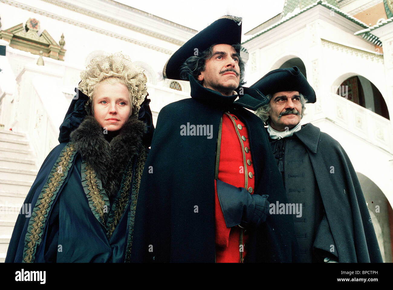 MAXIMILIAN SCHELL, OMAR SHARIF, HANNA SCHYGULLA, PETER THE GREAT, 1986 Stock Photo