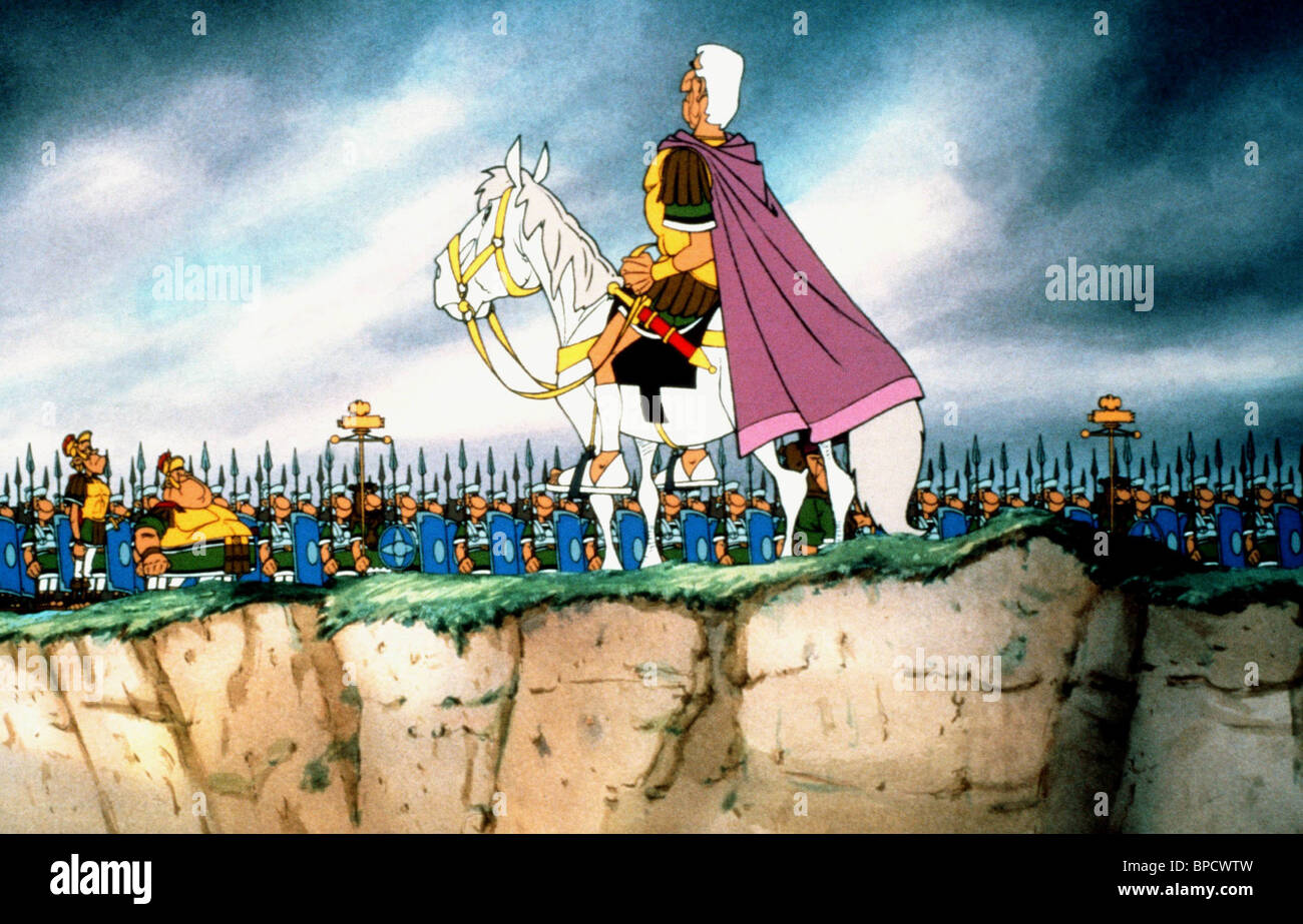 CAESAR, ROMAN ARMY, ASTERIX IN BRITAIN, 1986 - Stock Image