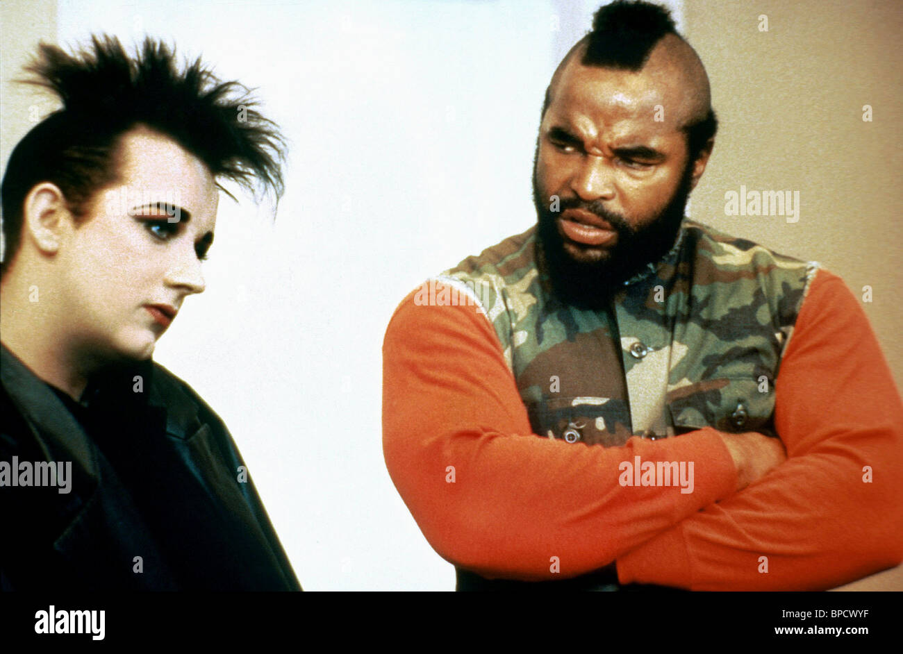BOY GEORGE MR T THE A TEAM 1986
