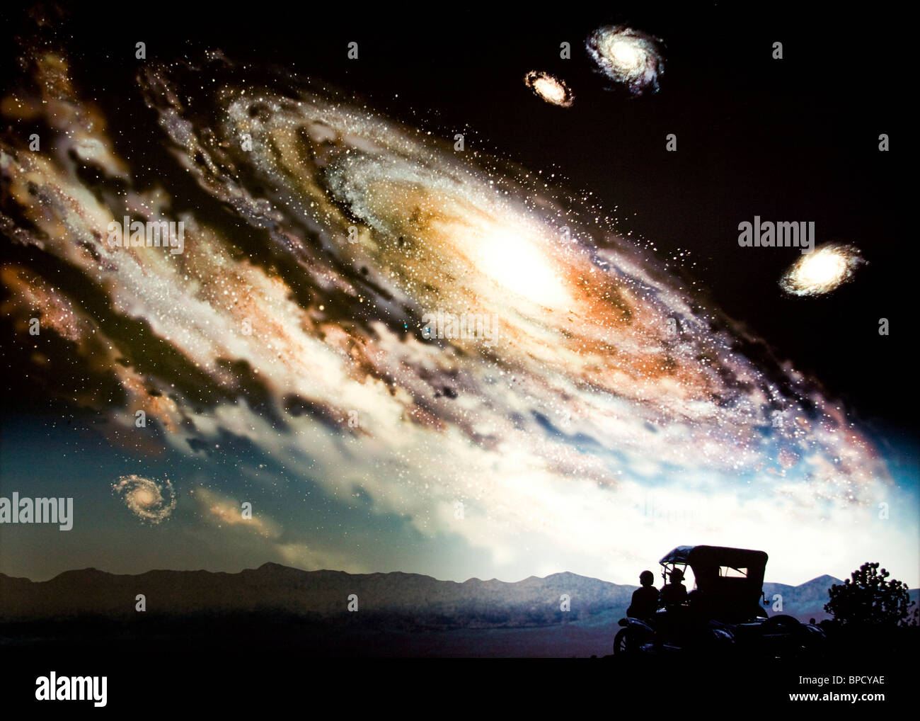Illustration of a spiral galaxy - Stock Image