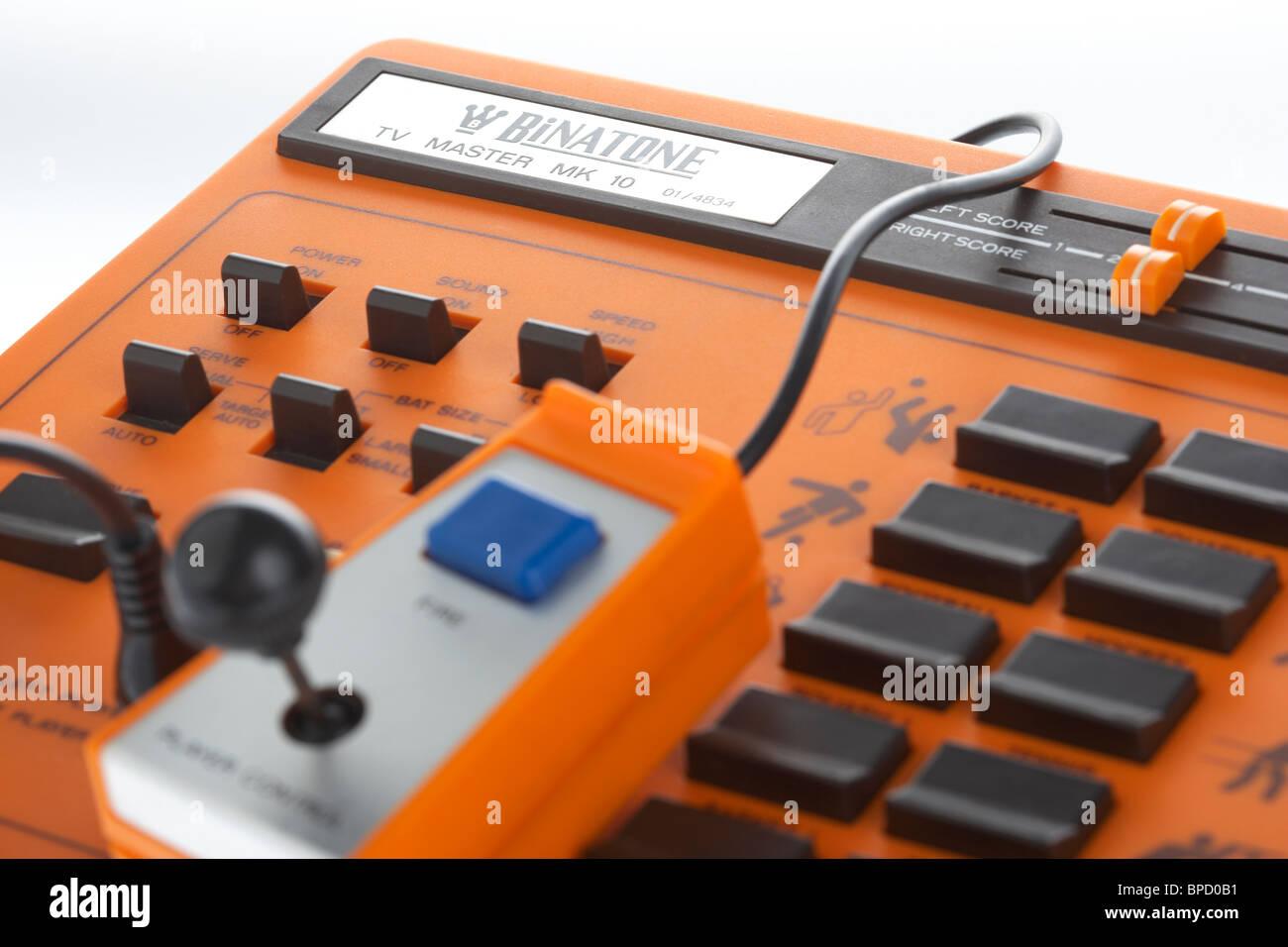 retro electronic video game binatone tv master mk 10 pong clone variant - Stock Image