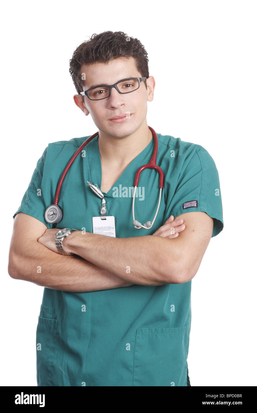male nurse - Stock Image