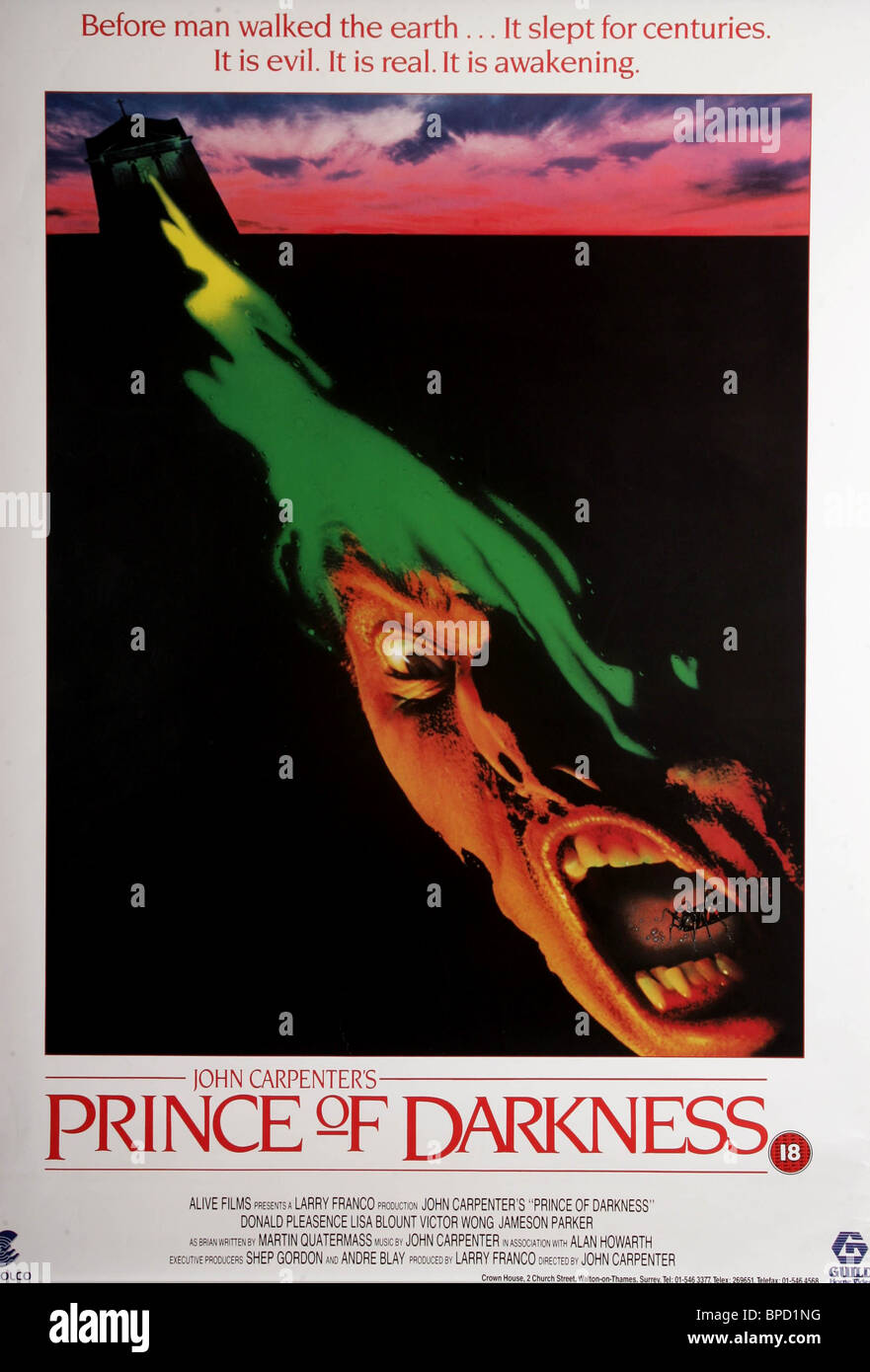FILM POSTER PRINCE OF DARKNESS (1987) - Stock Image