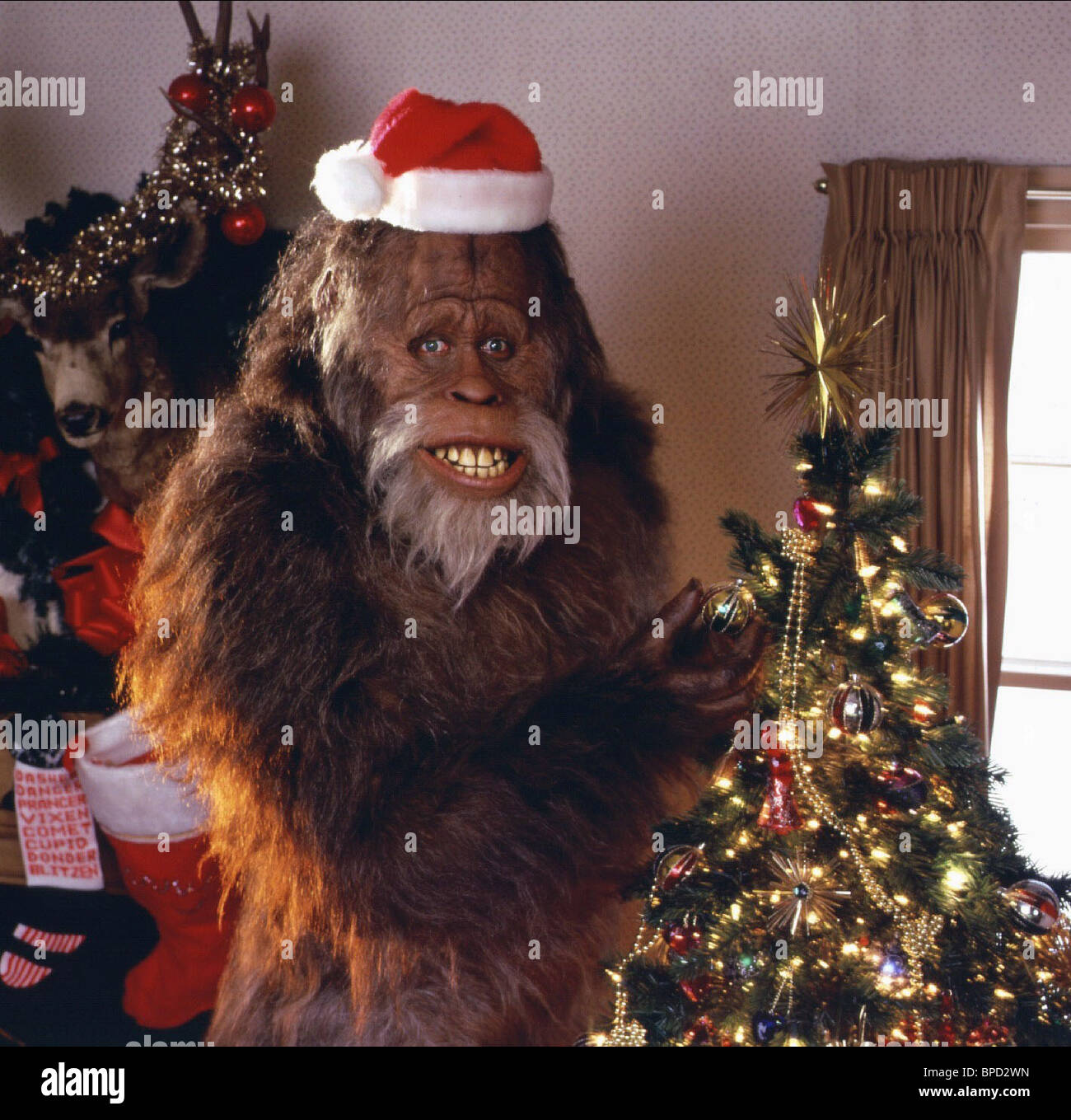 bigfoot harry and the hendersons 1987 stock image - Bigfoot Christmas Ornament