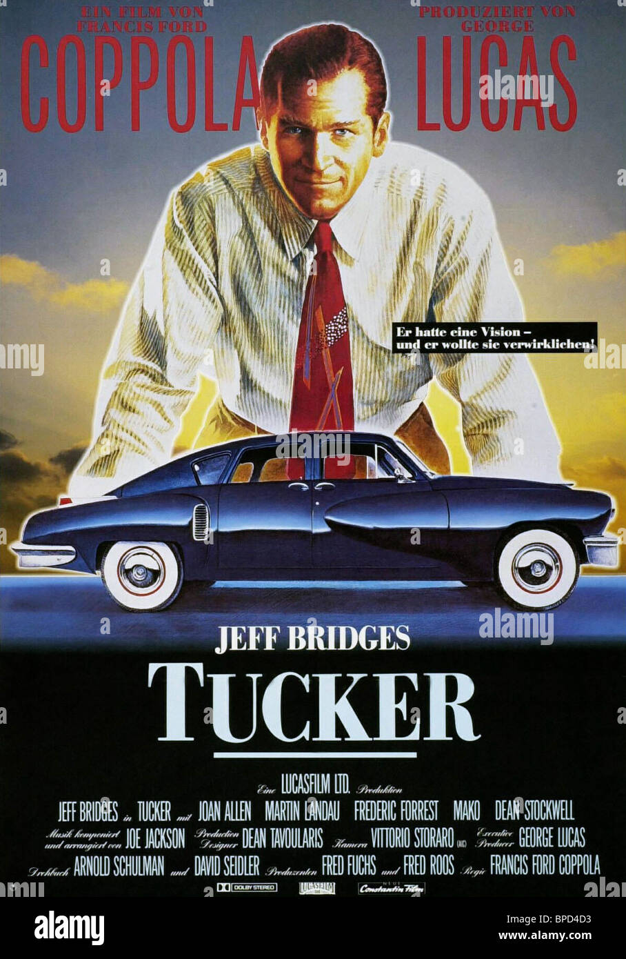 JEFF BRIDGES POSTER TUCKER: THE MAN AND HIS DREAM (1988)