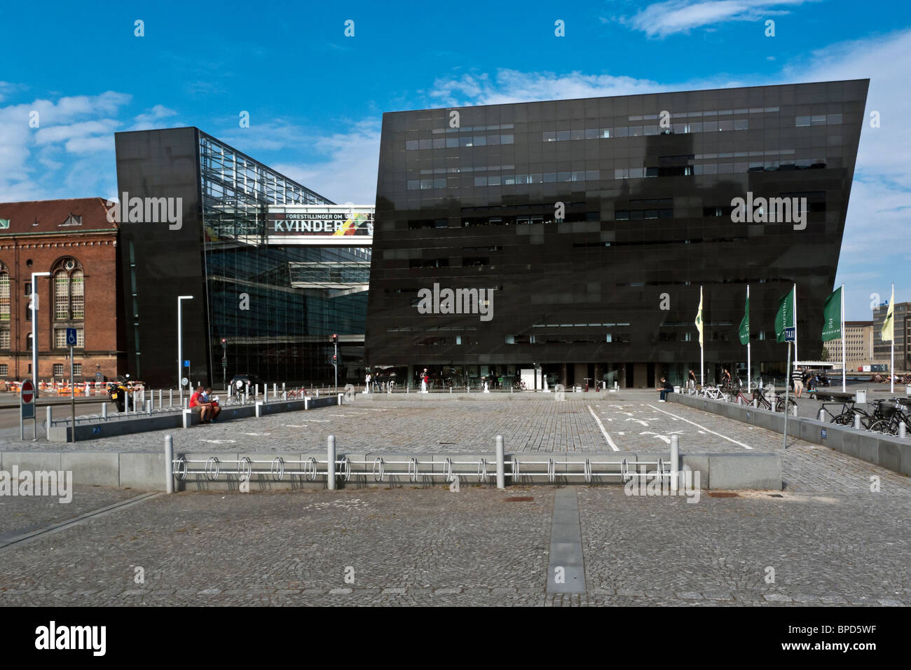 The Royal Danish Library is housed in a building termed Black Diamond spectacularly located on the waterfront in - Stock Image