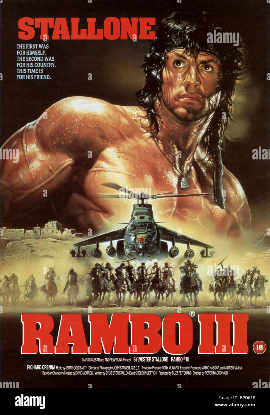Sylvester Stallone Poster Rambo Iii 1988 Stock Photo Alamy
