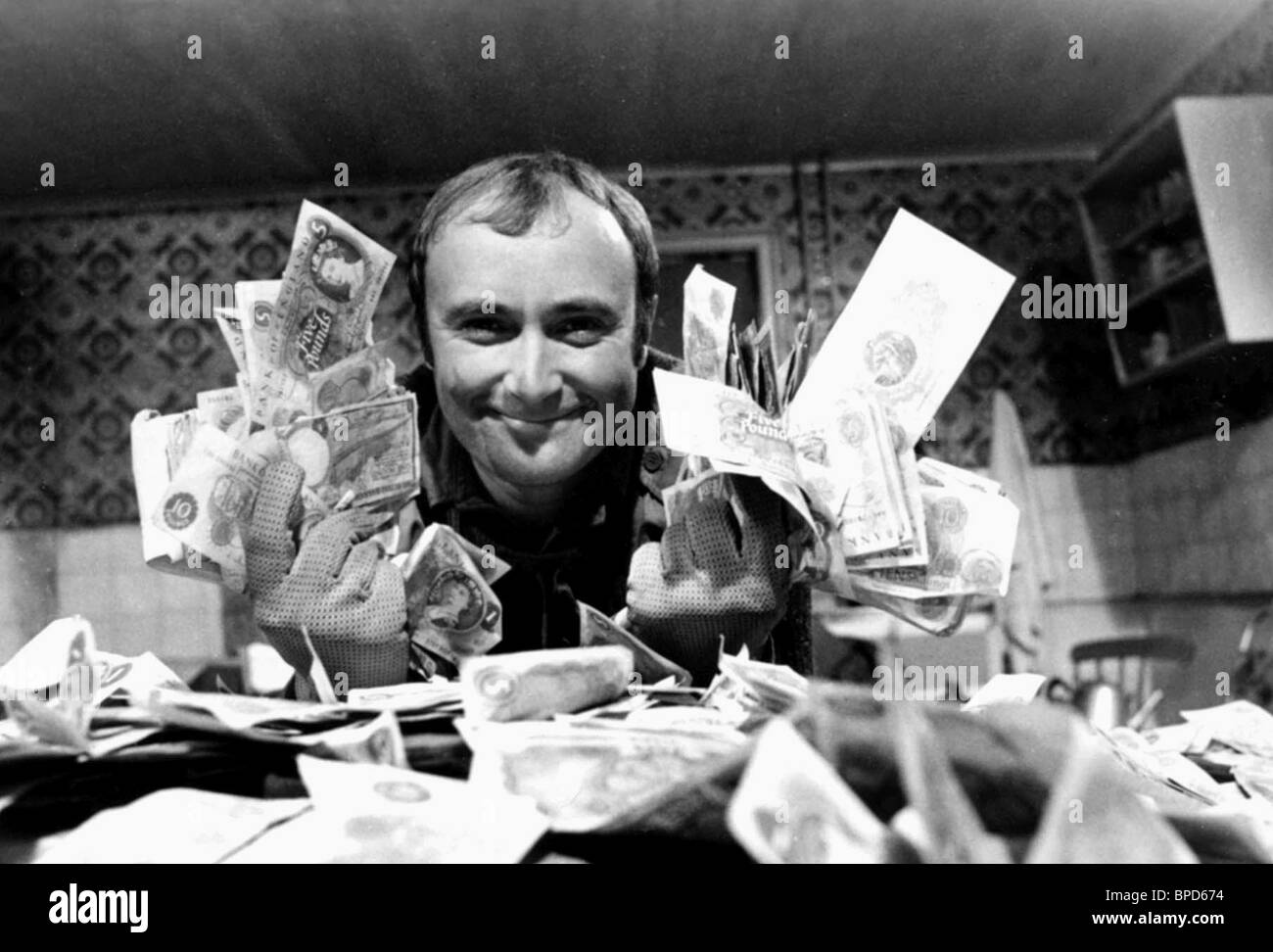 PHIL COLLINS BUSTER (1988) - Stock Image