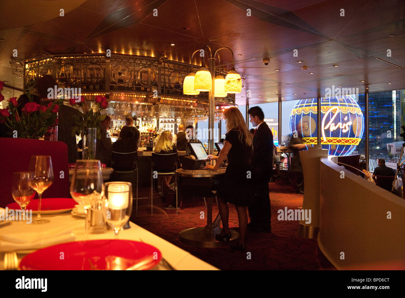 The Reception And Bar At The Eiffel Tower Restaurant The Paris