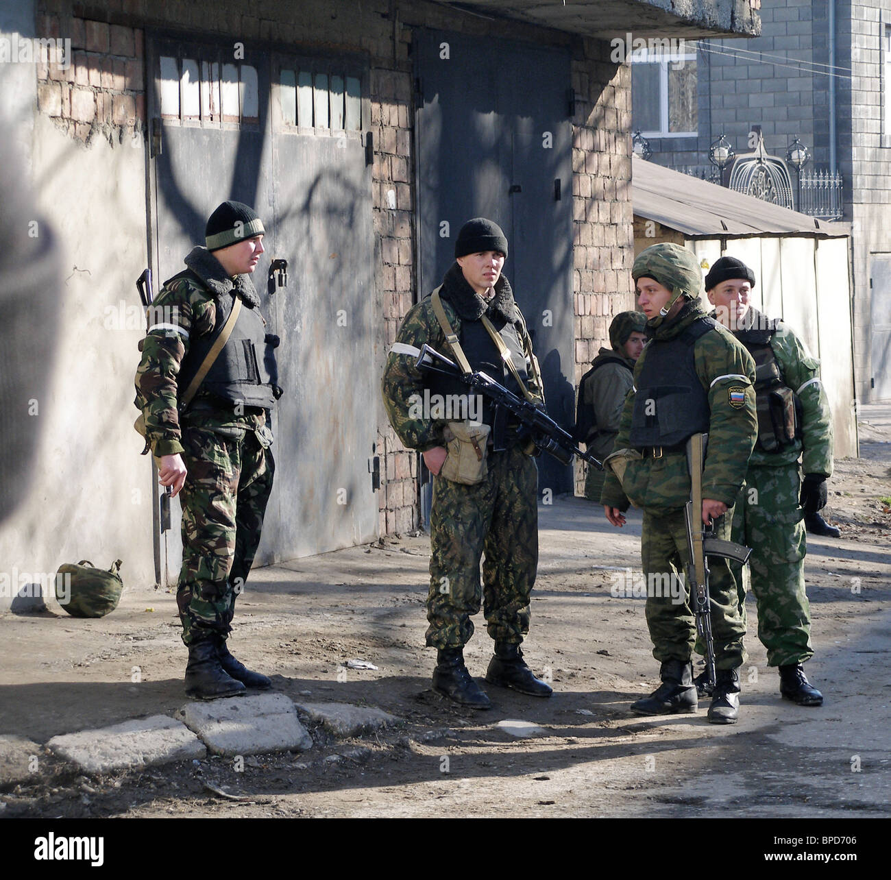4 militants killed in Makhachkala in special operation by anti-terrorist commandos - Stock Image