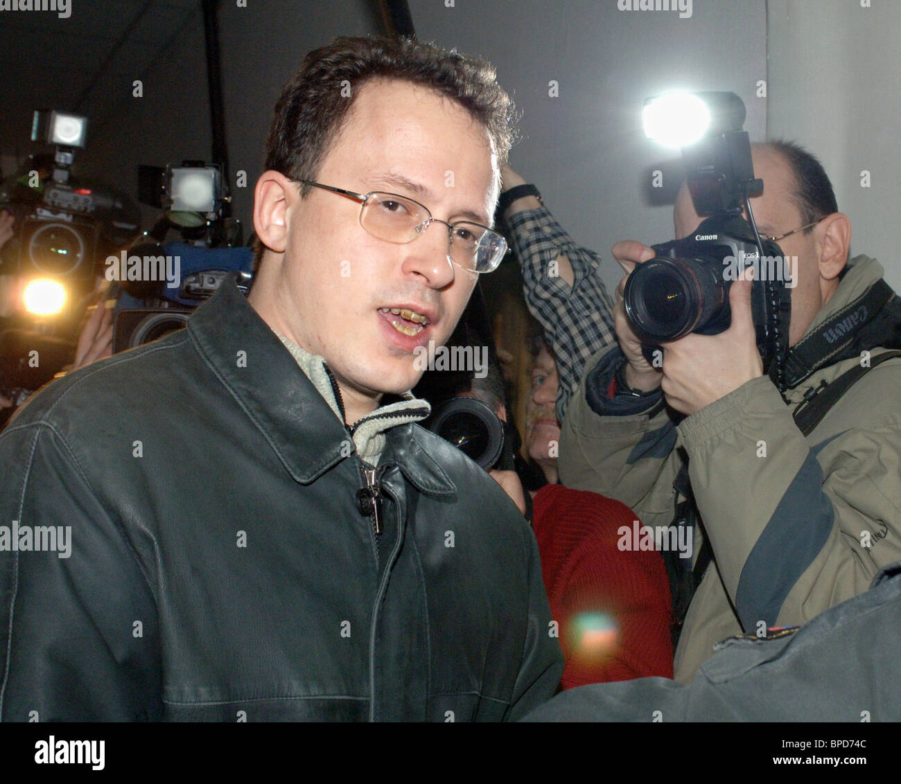 Moscow Basmanny court issues arrest warrant for Alexei Frenkel - Stock Image