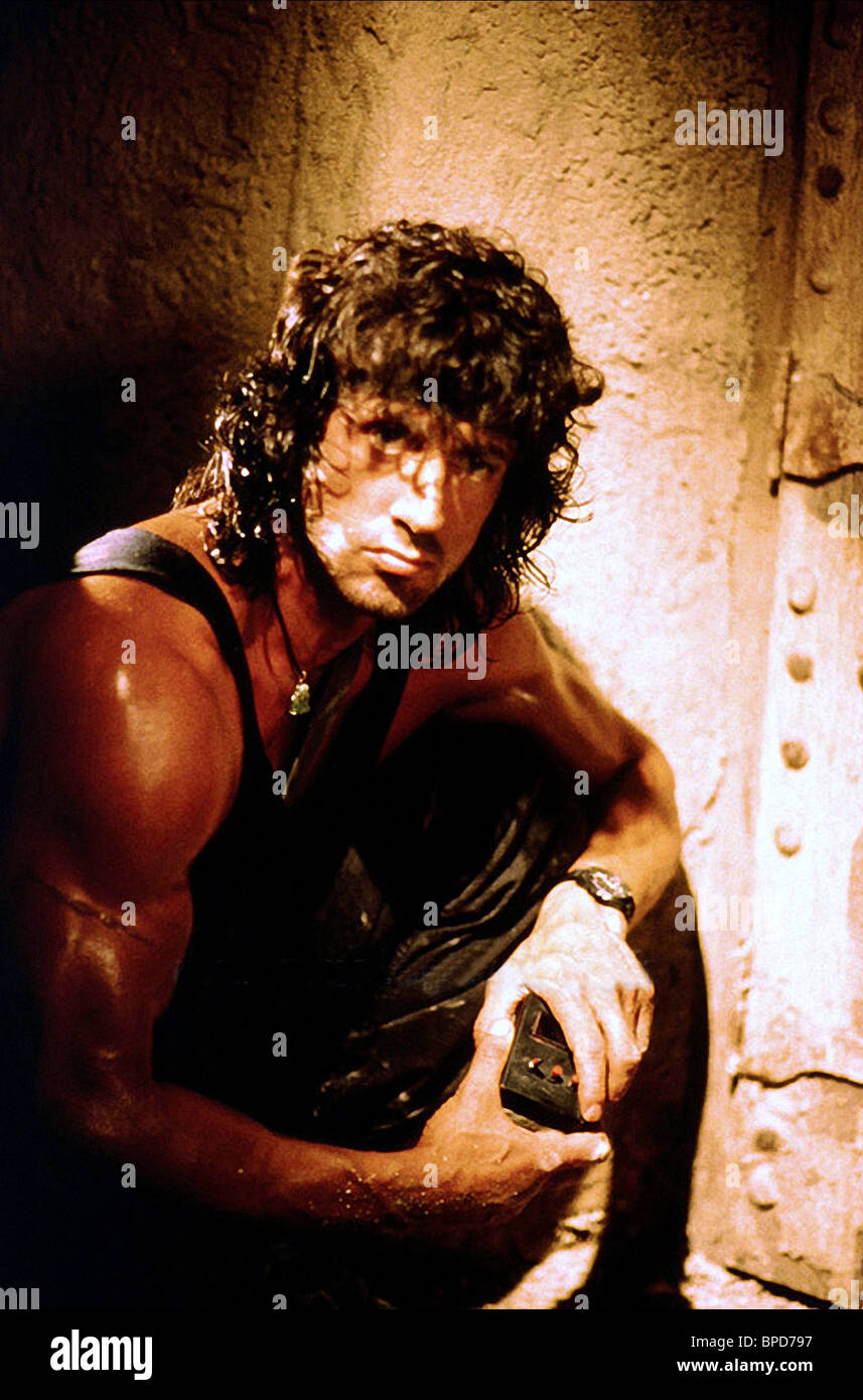 Sylvester Stallone Rambo Iii 1988 Stock Photo Alamy