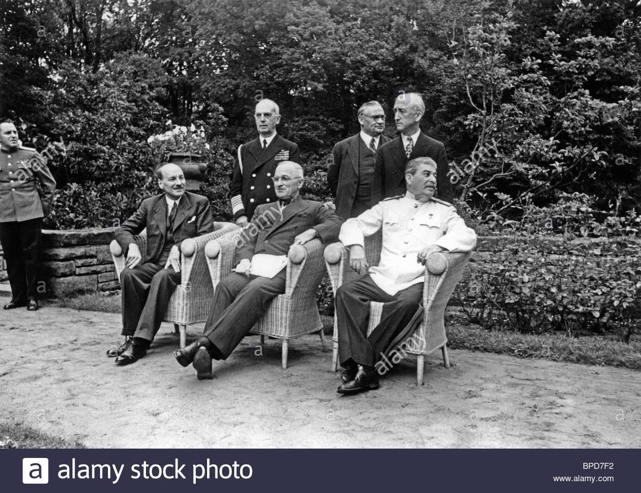 Potsdam conference, 1945 - Stock Image