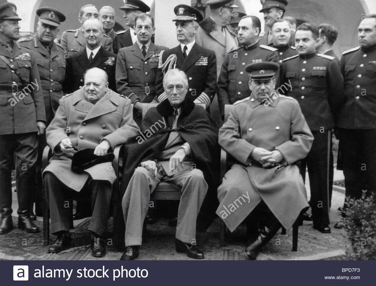 Churchill And Roosevelt Yalta Stock Photos Churchill And Roosevelt