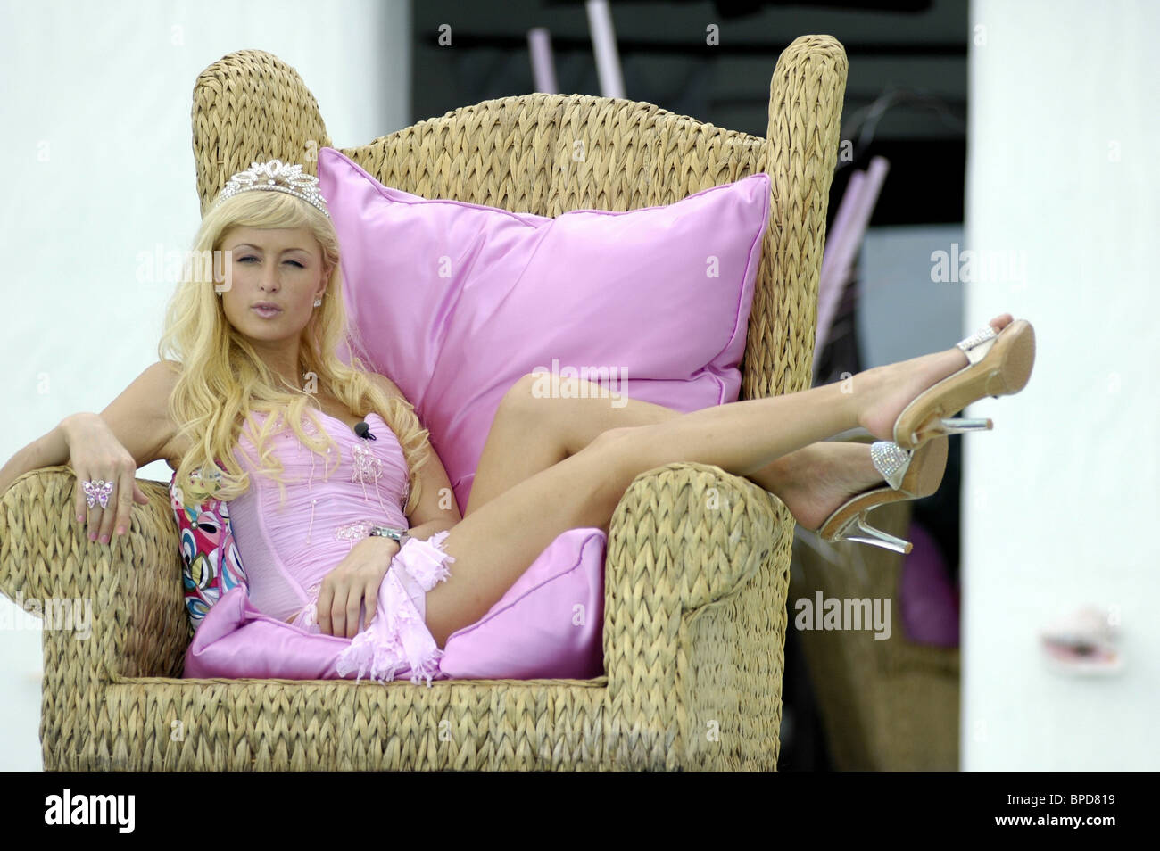R-rated comedy Pledge This! starring Paris Hilton released in Russia under title Blonde in Chocolate - Stock Image