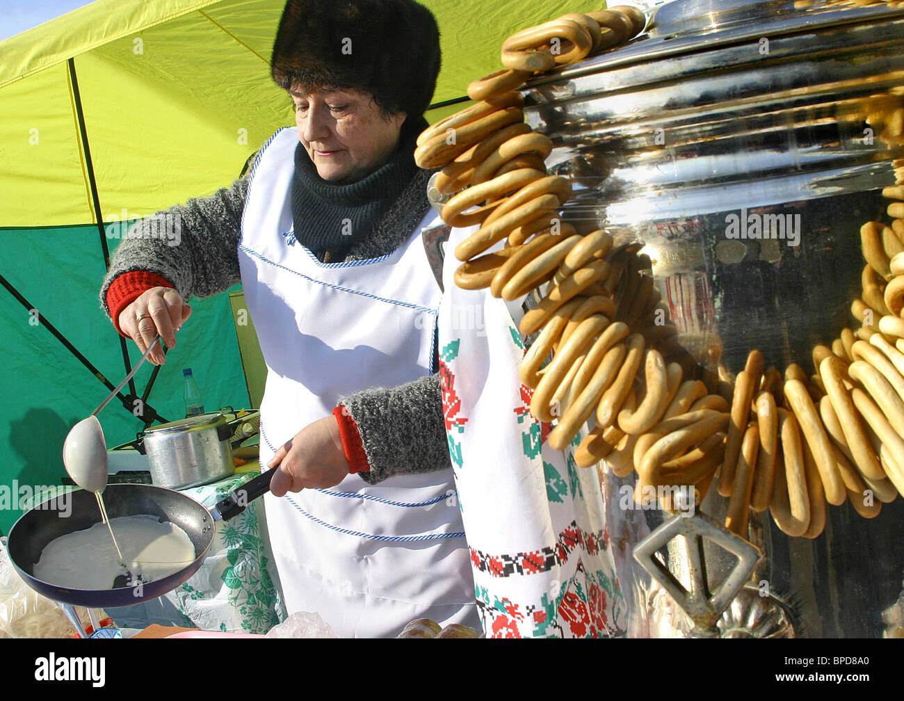 Maslenitsa (Pancake Week) celebrations in Russia - Stock Image