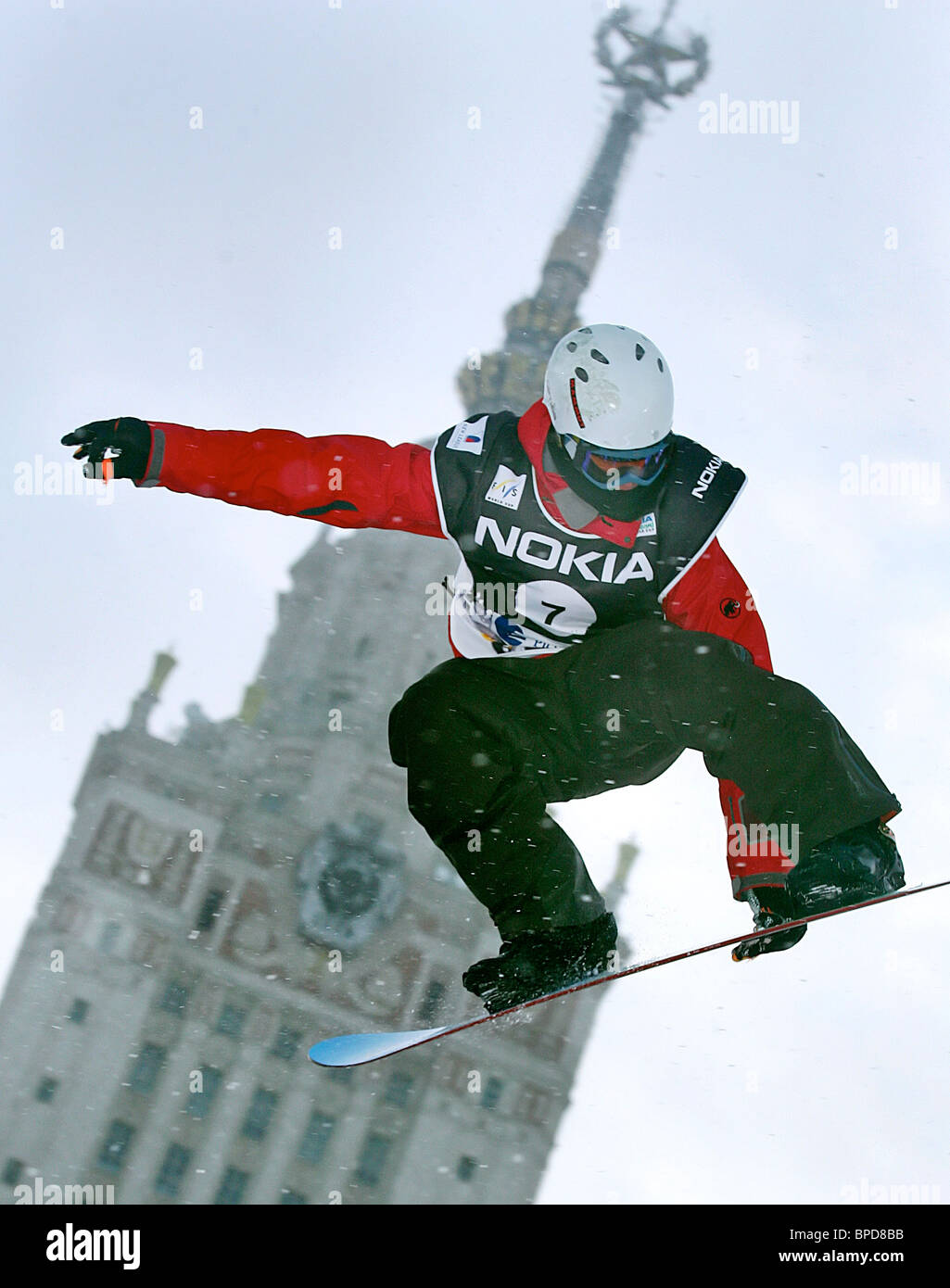 FIS Snowboard World Cup event - Stock Image