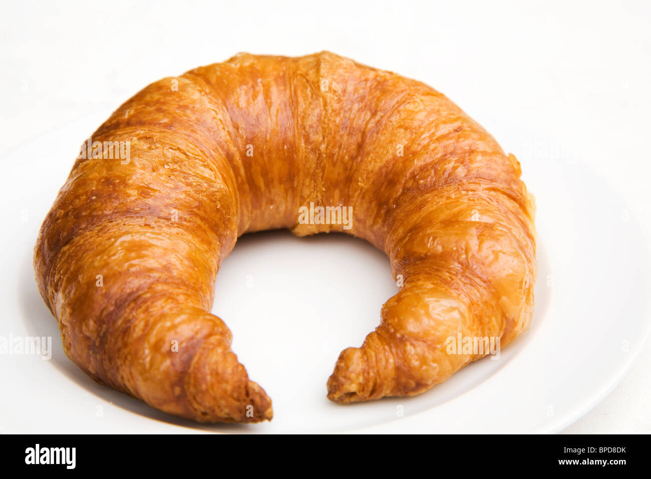 A Bamberger Hornerl (Bamberg Horn), a type of croissant, traditionally served in Bamberg, Germany. - Stock Image