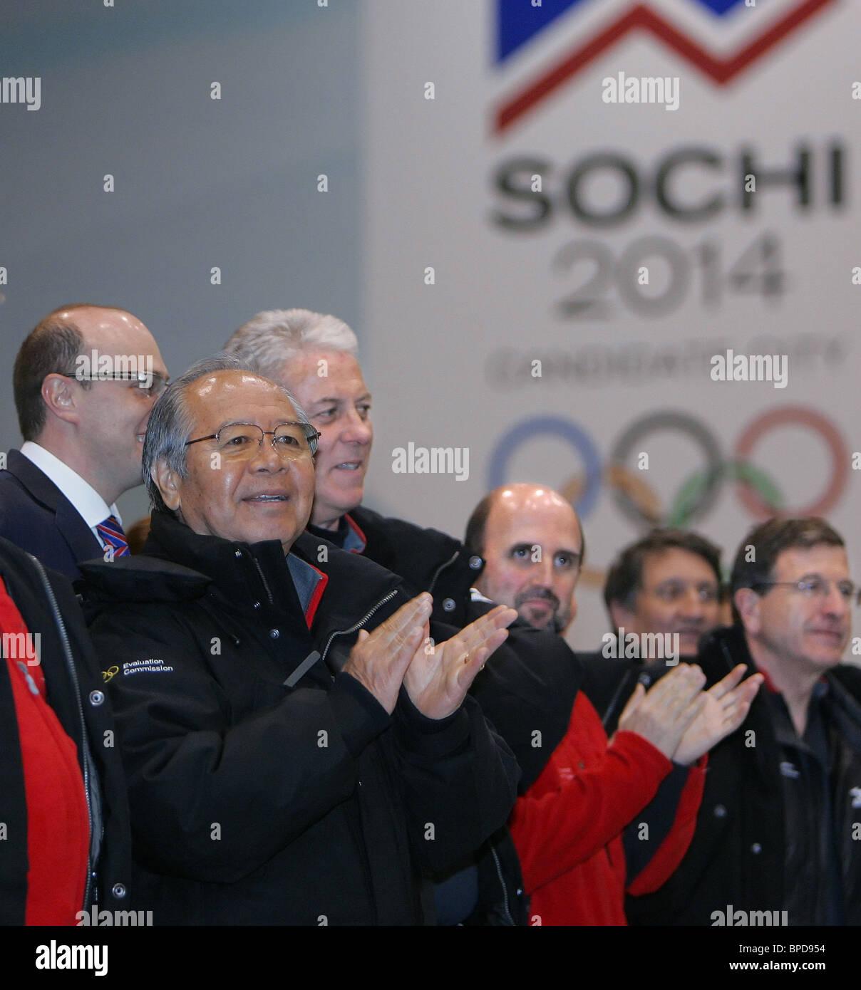 IOC Evaluation team arrive in Sochi - Stock Image