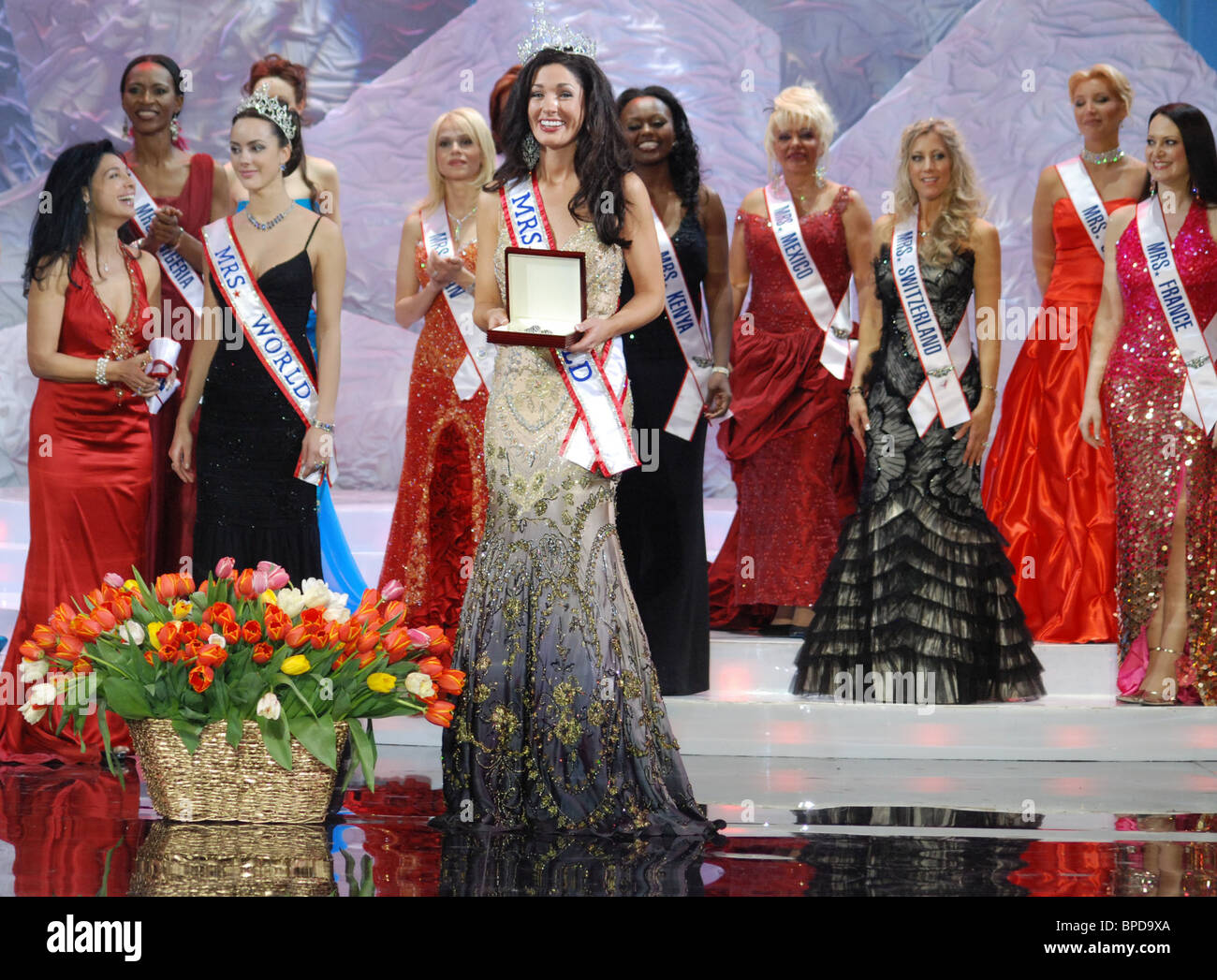 Mrs. World 2007 beauty pageant ended in Sochi - Stock Image