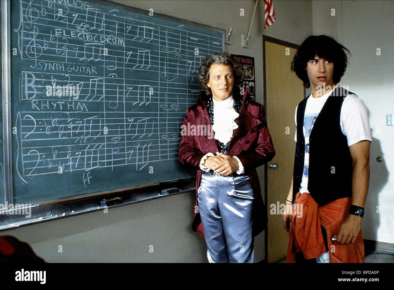 CLIFFORD DAVID, KEANU REEVES, BILL and TED'S EXCELLENT ADVENTURE, 1989 - Stock Image
