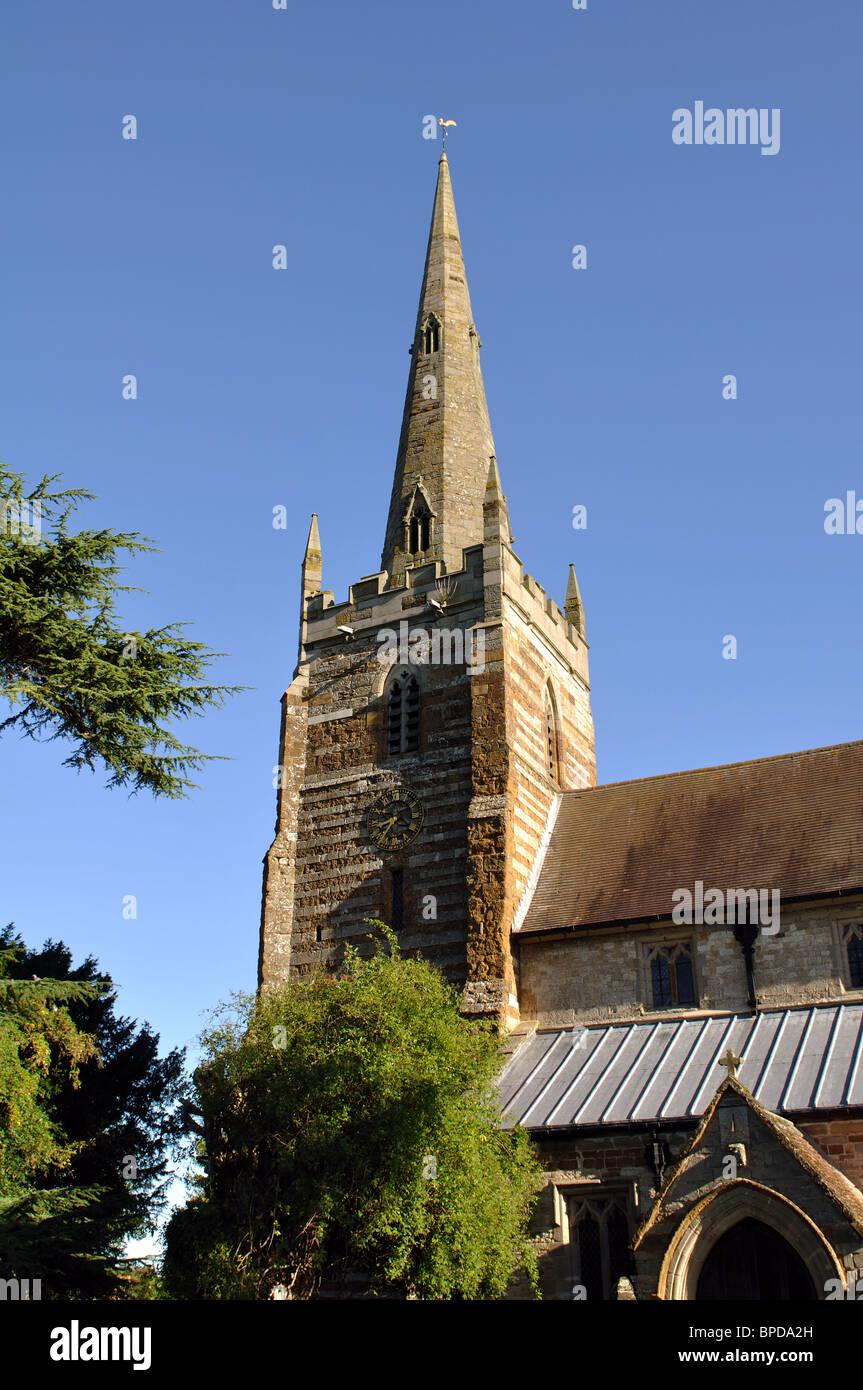 All Saints Church, Ladbroke, Warwickshire, England, UK Stock Photo