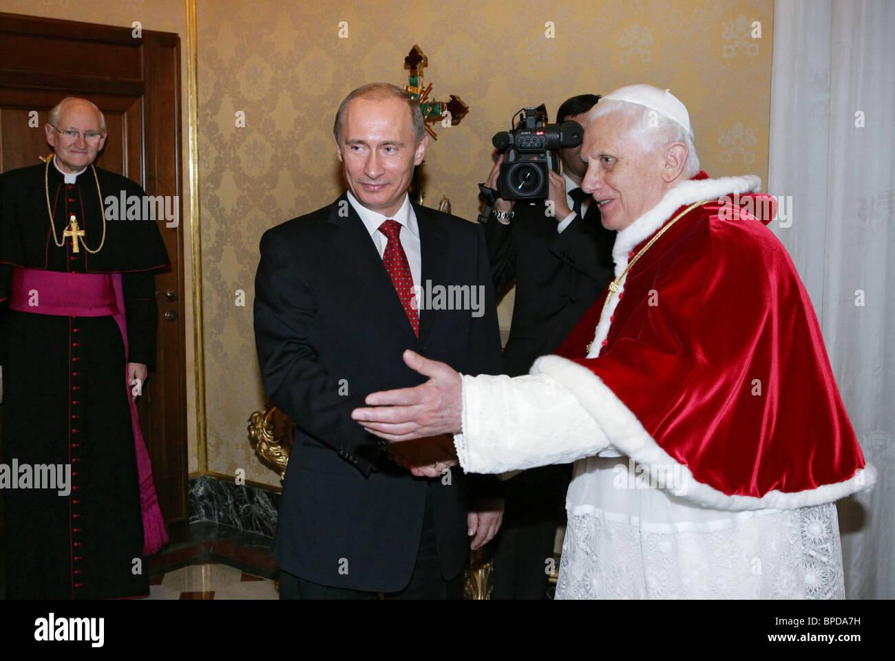 President Putin visits Italy Stock Photo