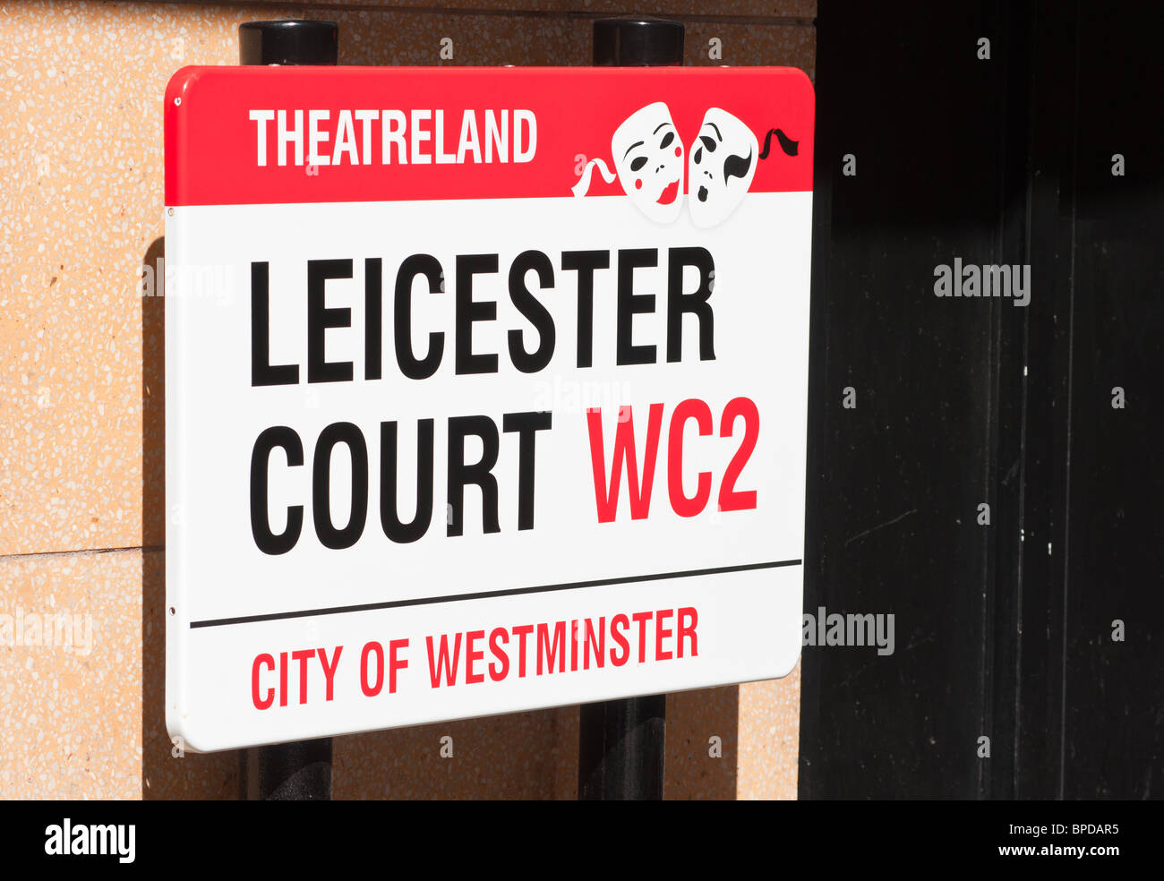 Theatreland sign - Stock Image