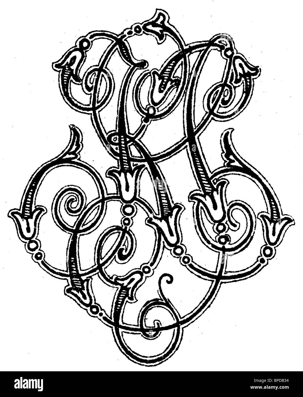 Monogram Ks Stock Photo Alamy