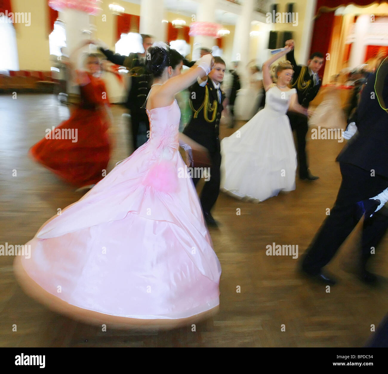 Russia's main cadet ball held in Moscow Stock Photo