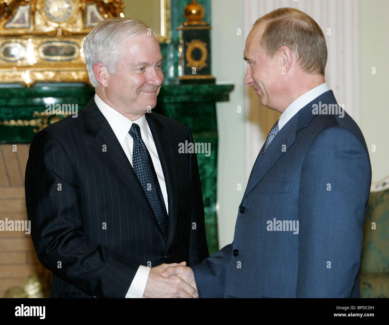 President Putin holds series of meetings April 23, 2007 - Stock Image