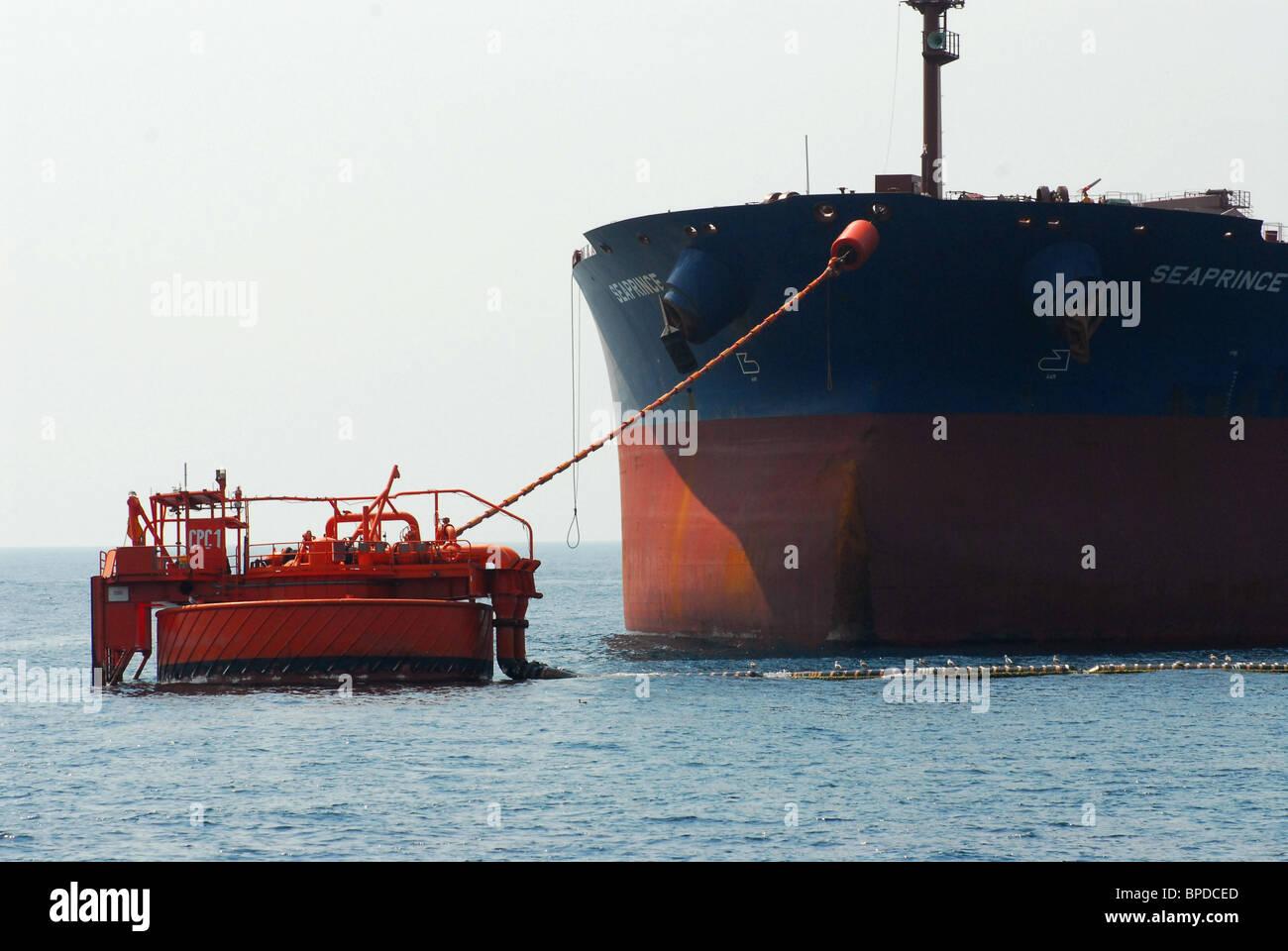Marine Terminal of Caspian Pipeline Consortium - Stock Image