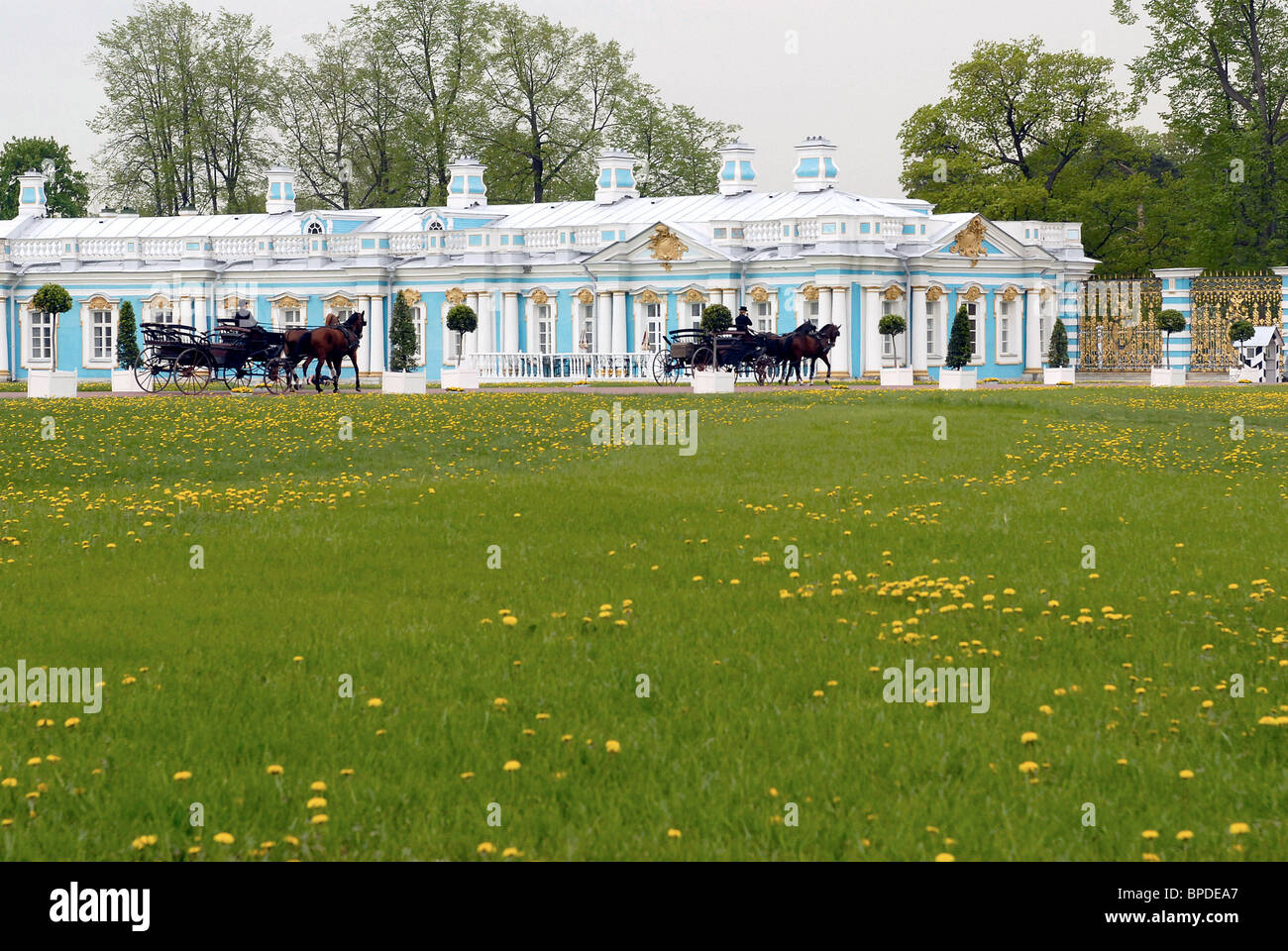 Reserve collections of Tsarskoe Selo Museum now on permanent display in Catherine's Palace - Stock Image