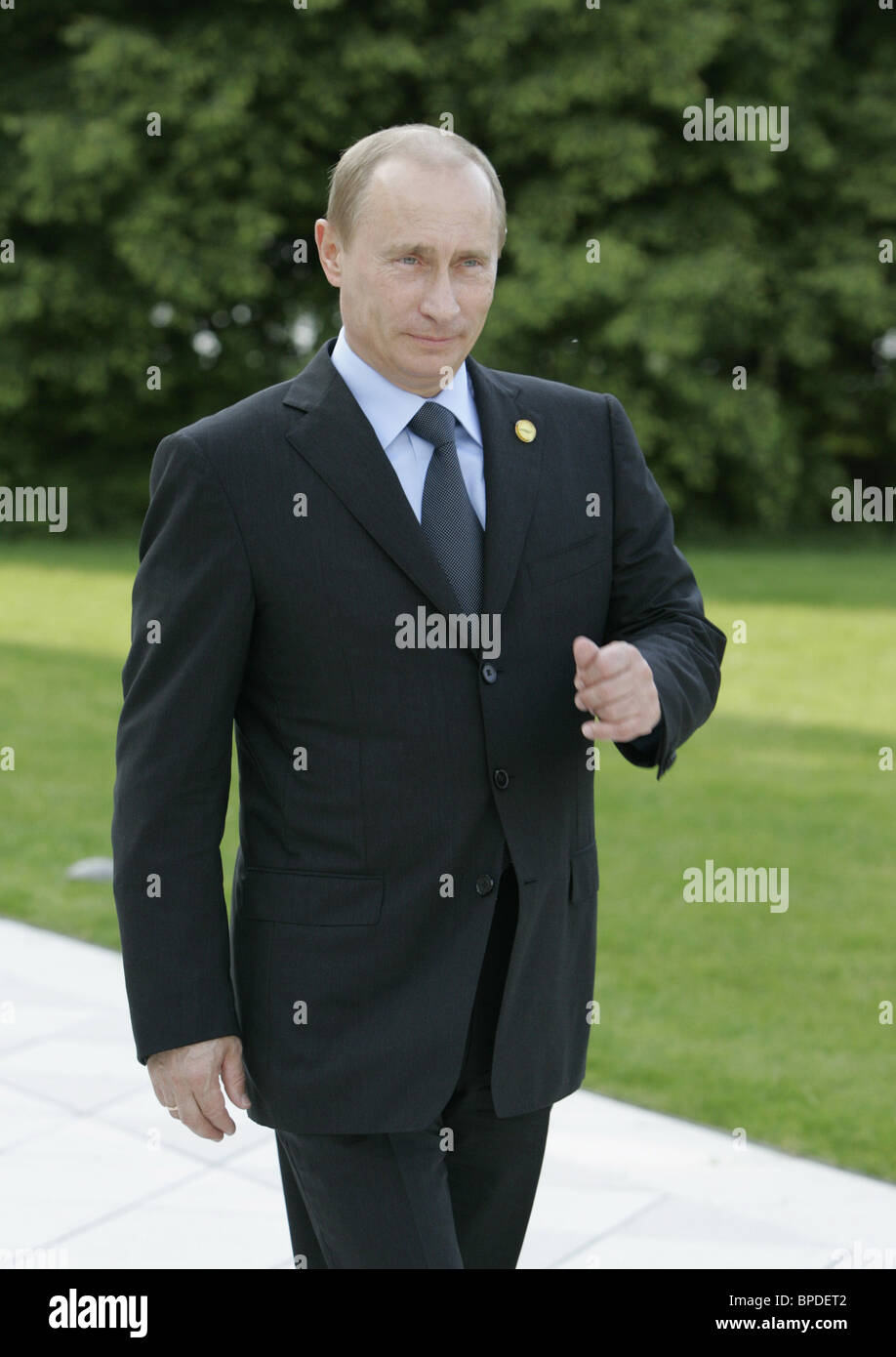Russian President Vladimir Putin arrived for G8 summit in Germany - Stock Image