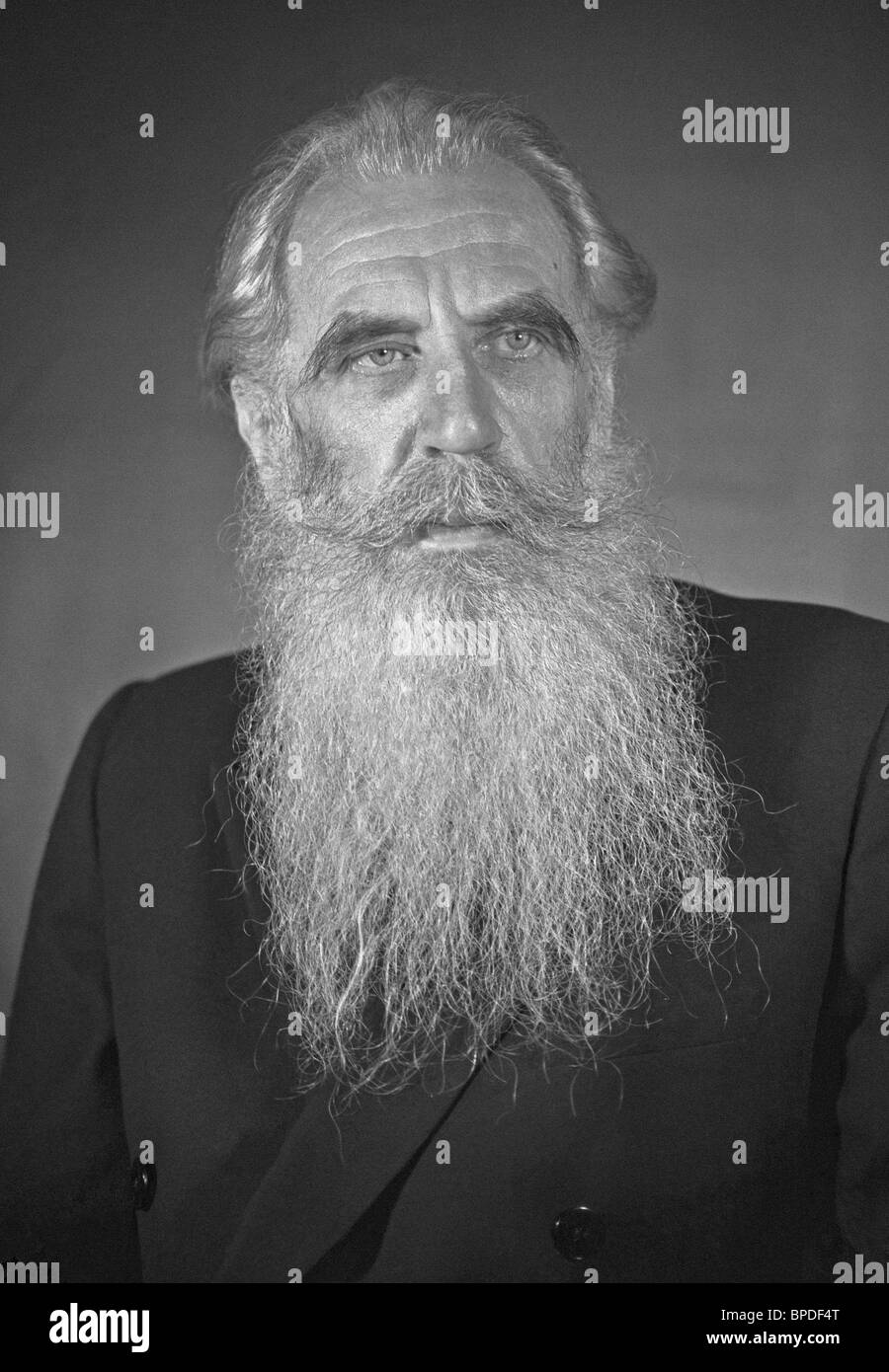 Soviet scientist Otto Schmidt Stock Photo