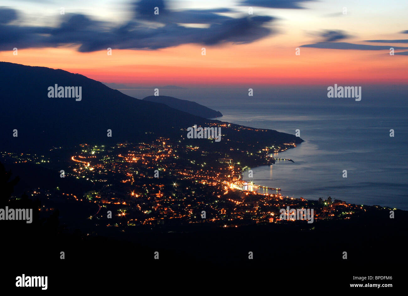 Southern coast of Crimea in pictures - Stock Image