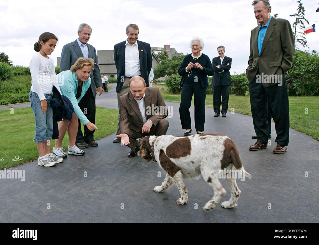 Russian President Vladimir Putin on a visit to USA - Stock Image