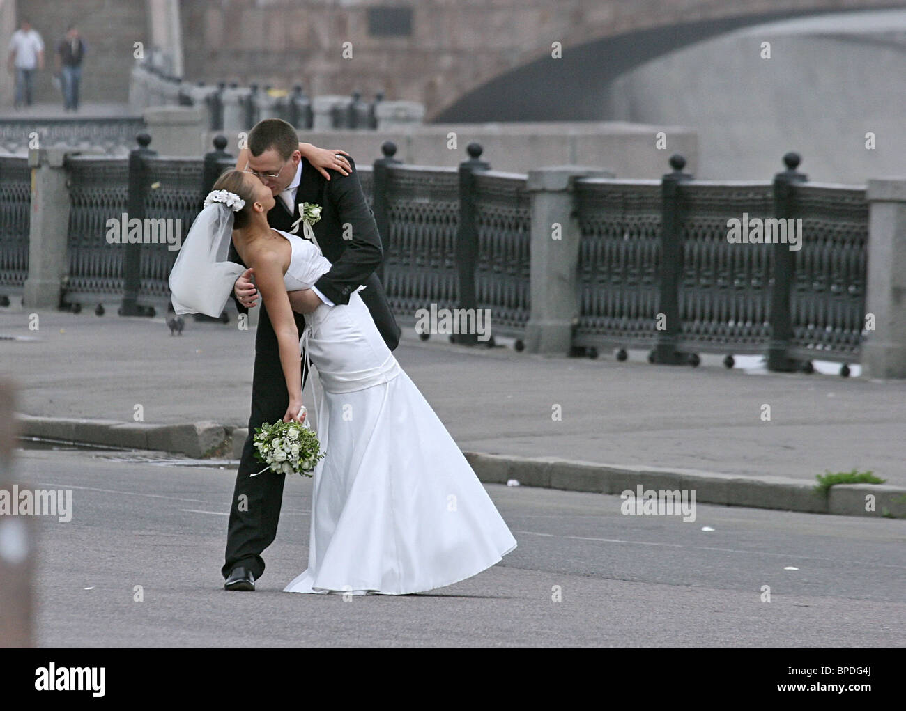 Moscow sees wedding boom on 07-07-07 - Stock Image