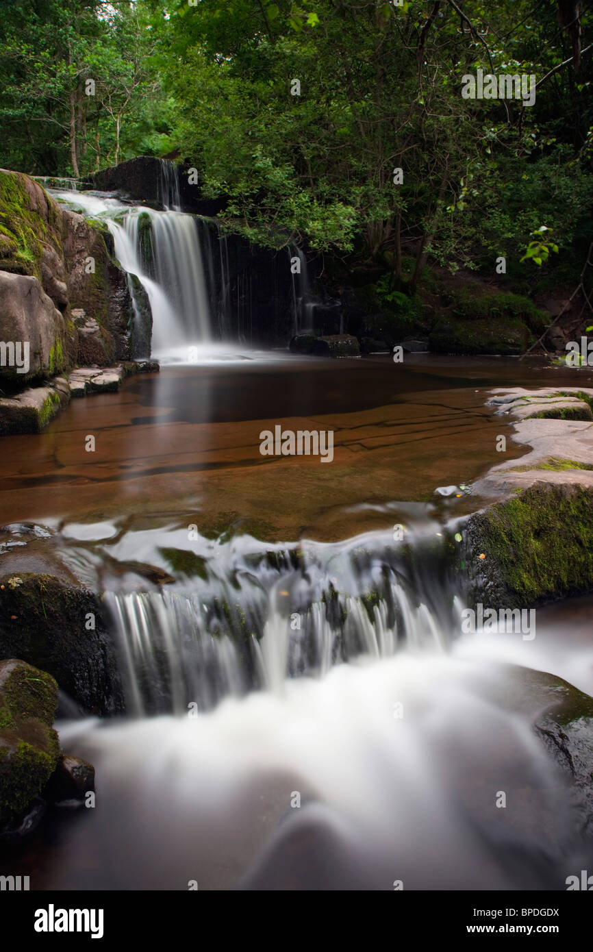 Blaen y Glyn; Brecon Beacons; waterfall Stock Photo