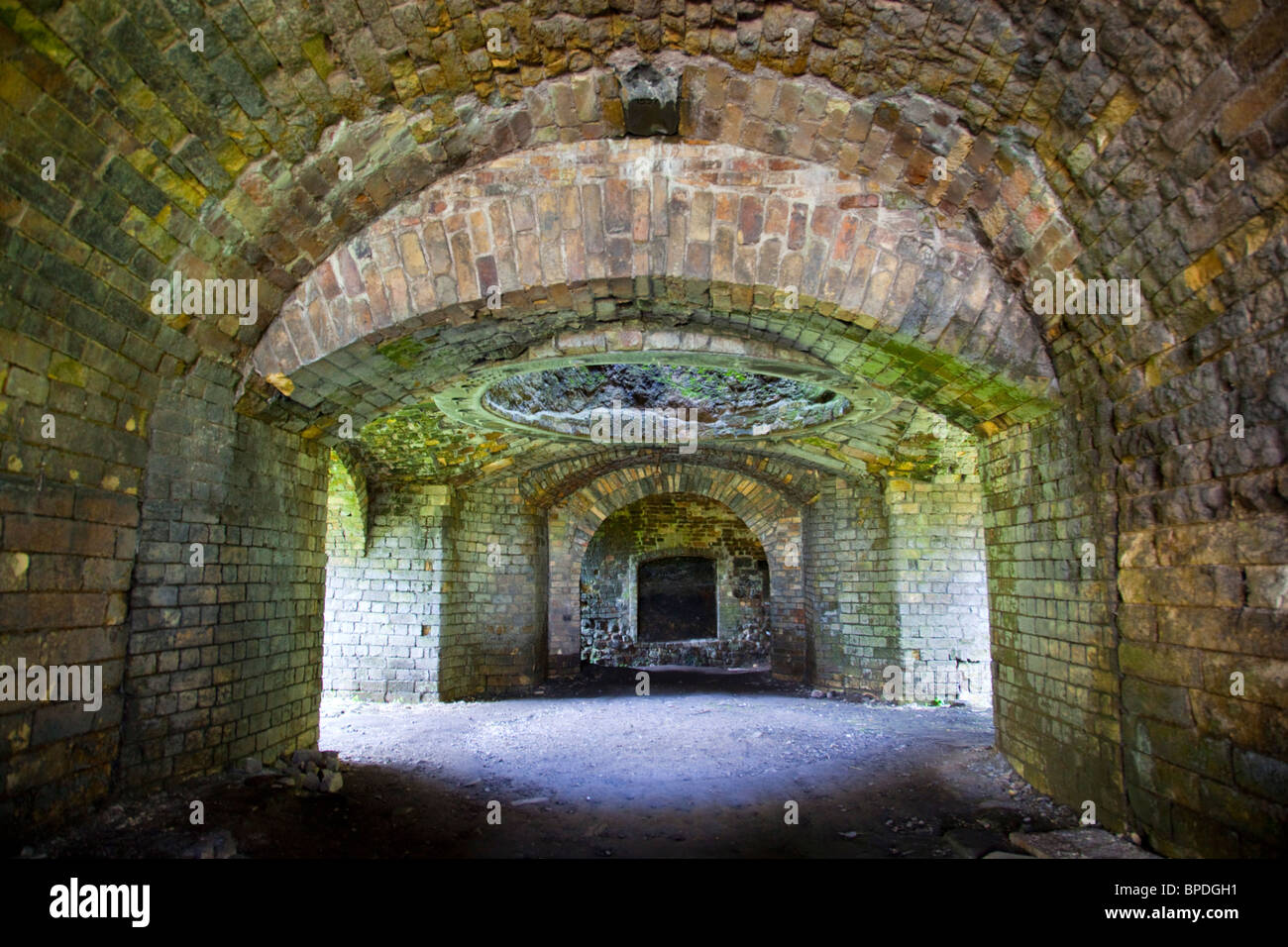 Blaenavon ironworks; Wales; furnace; part of the industrial World Heritage Site - Stock Image