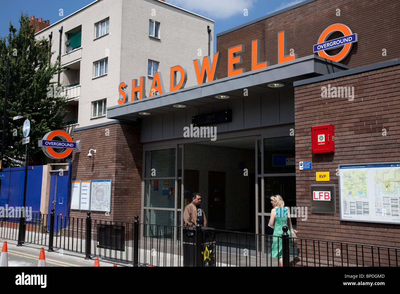 New London Overground train line in East London. This is the replacement for the old East London underground line. - Stock Image