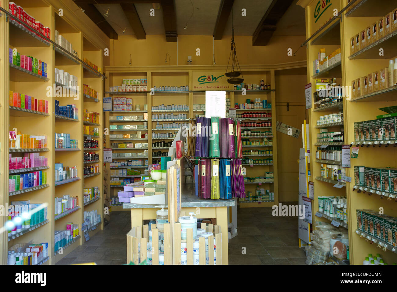 Jacob Hooij apothecary in Amsterdam Stock Photo