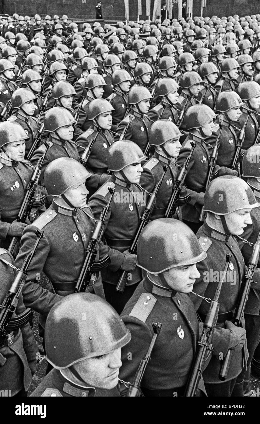 May Day parade in Red Square, 1964 - Stock Image