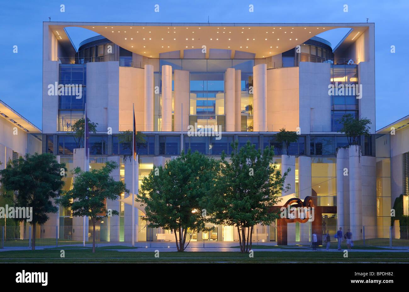 Bundeskanzleramt, German Chancellery, Regierungsviertel government quarter, Tiergarten district, Berlin, Germany, Stock Photo
