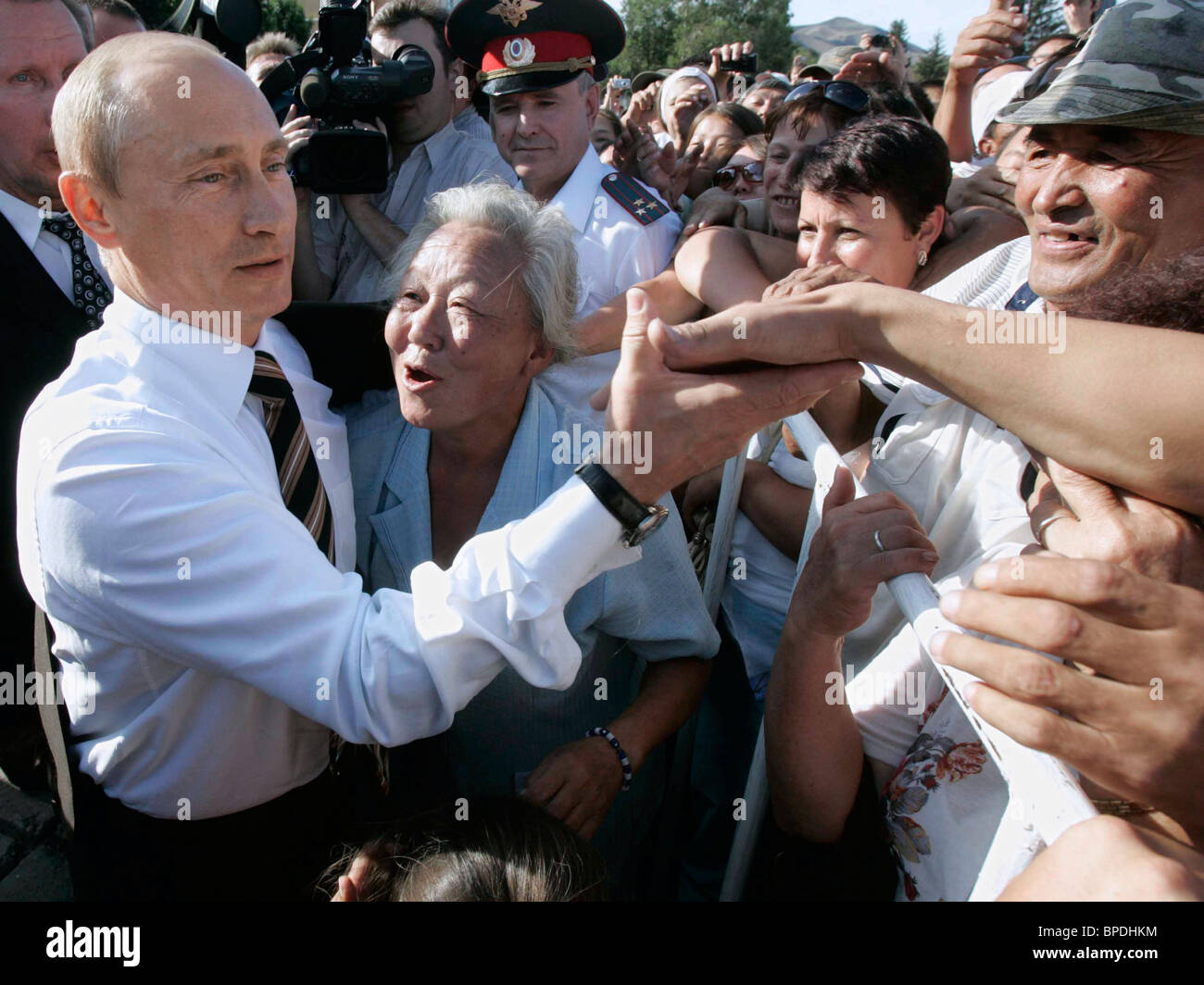 President of Russia arrives in Kyzyl - Stock Image