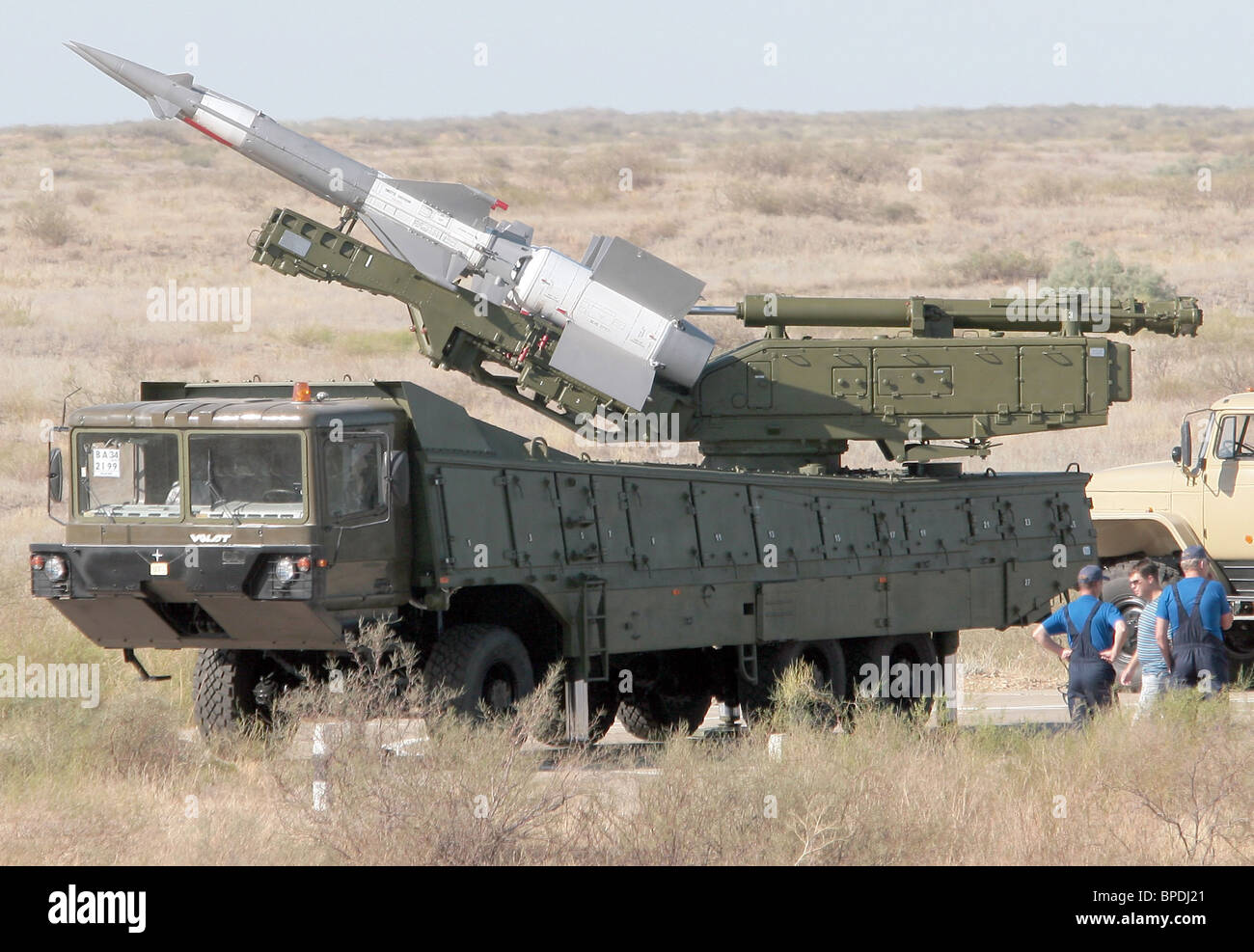 Air defence exercise of CIS states, 'Combat Commonwealth 2007', under way near Astrakhan - Stock Image