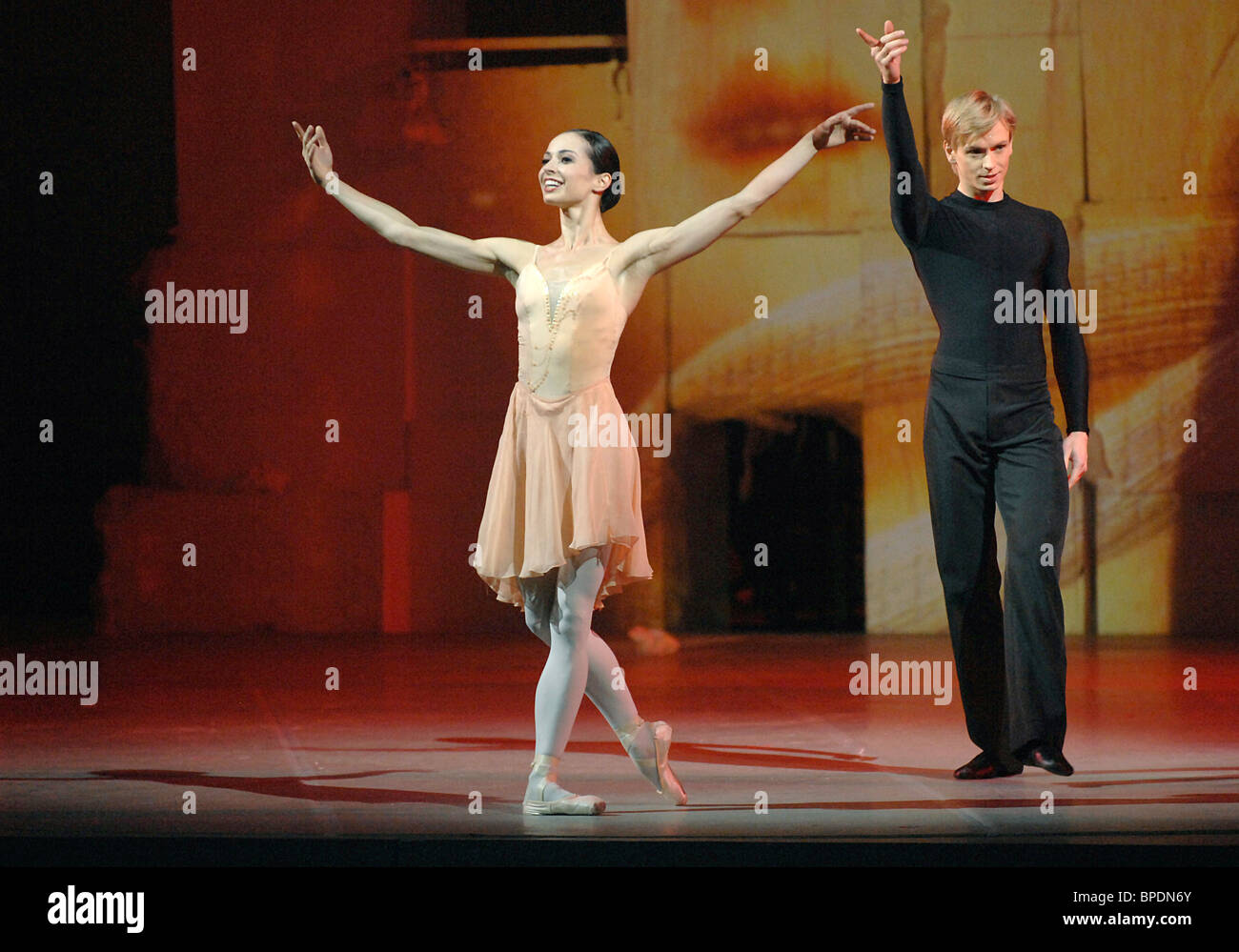Silenzio ballet directed by Andrei Moguchy in St Petersburg - Stock Image