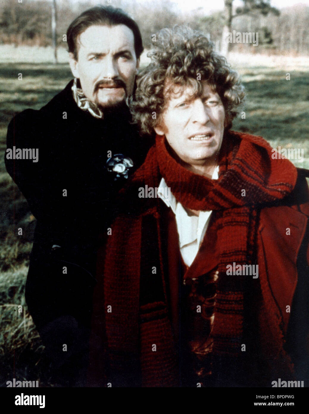 ANTHONY AINLEY & TOM BAKER DR WHO (1990) - Stock Image