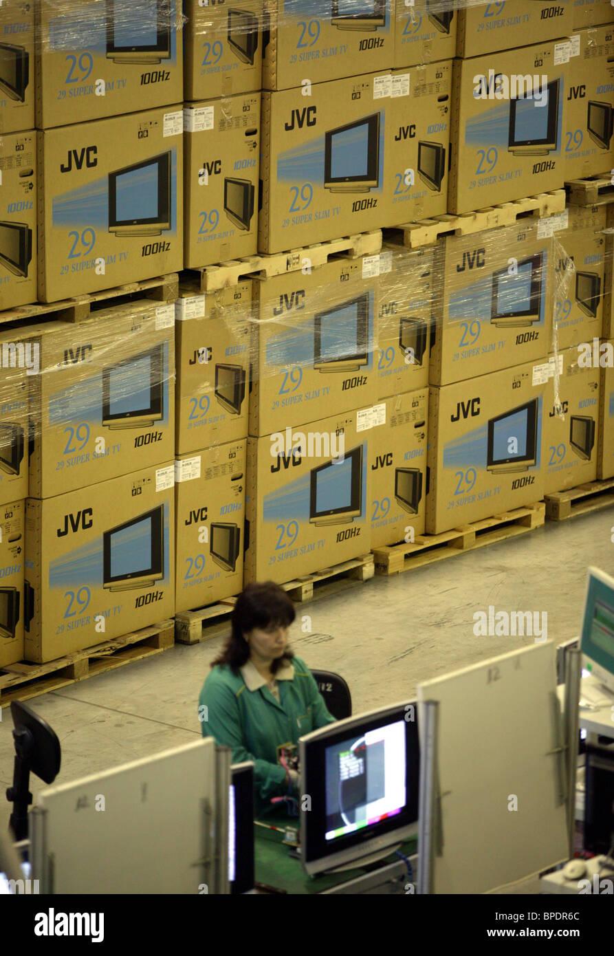 Telebalt LCD TV plant in Kaliningrad enclave - Stock Image