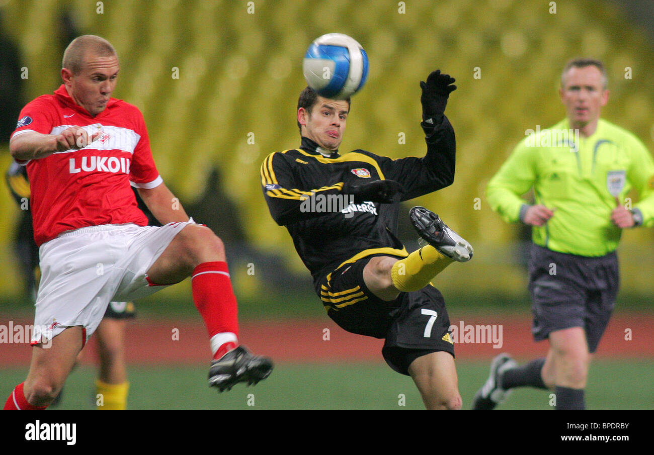 UEFA Cup match: Bayer Leverkusen 1 - 2 Spartak Russia - Stock Image